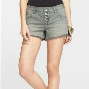 Free People - Grey Cut-Off Shorts
